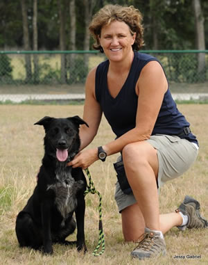 Dog Trainer Judy Anderson and Riley